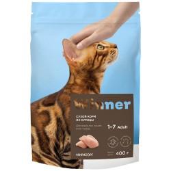 Winner,полнорационный сухой корм для взрослых кошек всех пород,из курицы,0,4кг (Мираторг)