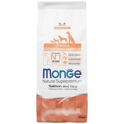Monge Dog Speciality Puppy and Junior корм для щенков всех пород лосось с рисом 12 кг