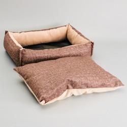 Лежанка под замшу с двусторонней подушкой