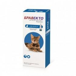 Бравекто плюс для кошек 250 мг (2,8-6,2 кг)