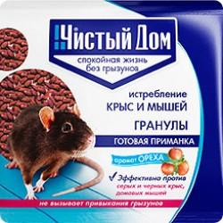 Чистый дом Гранула от крыс и мышей с запахом Ореха 100 гр