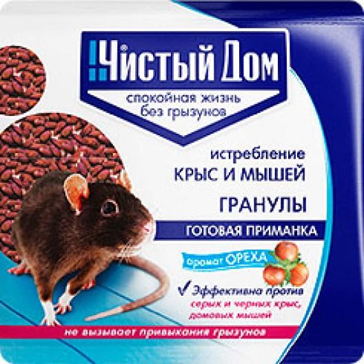 Купить Чистый дом Гранула от крыс и мышей с запахом Ореха 100 гр