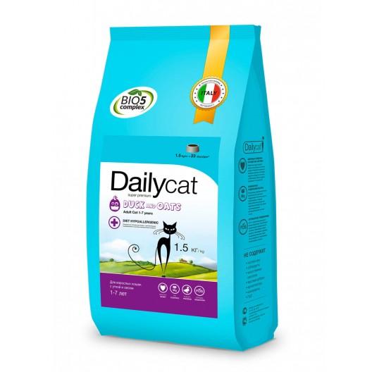 Dailycat 0,4  Беззерновой корм для взрослых кошек с уткой и кроликом