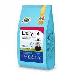 Dailycat-0,4 кг Корм для взрослых привередливых кошек с рыбой и рисом