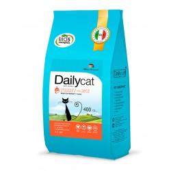 Dailycat 0.4 Корм для взрослых кошек для вывода шерсти  с индейкой и рисом