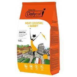 Daylycat -0,4 корм для взрослых кошек мясной коктейль с кроликом