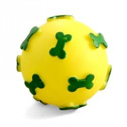 """Игрушка для собак из винила """"Мяч с косточками"""", d 60 мм,Triol"""