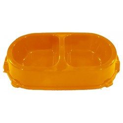 Фаворит миска пластиковая двойная 0,45л цвета в ассорт.