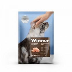 Winner,полнорационный сухой корм для стерилизованных кошек,из курицы,2 кг (Мираторг)