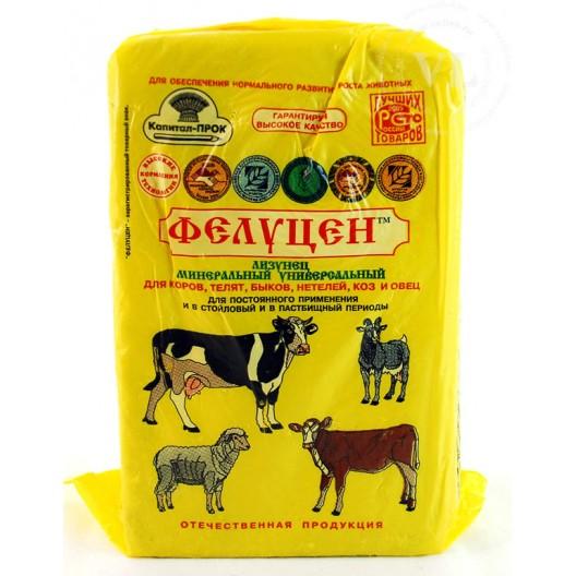 Купить Фелуцен - лизунец с минералами универсальный для КРС, коз и овец 3 кг