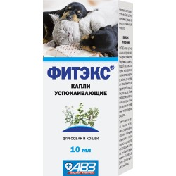 Фитекс капли успокаивающие 10 мл для собак и кошек