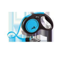 Flexi рулетка Black Design L(до 50 кг) 5 м ,черный/синий
