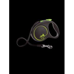 Flexi рулетка Black Design L(до 50 кг) 5 м ,черный/зеленый