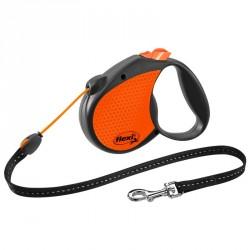 Flexi рулетка Limited Edition Neon Reflect M до 20кг,трос 5м,оранжевый