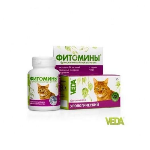 Купить Фитомины для кошек с урологическим фитокомплексом, 50 гр