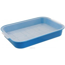 Туалет для котят 35*26*4 см, синий
