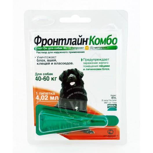 Купить Фронтлайн Комбо ,капли на холку для собак 40-60кг.