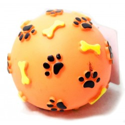 """Игрушка для собак из винила """"Мяч с лапками и косточками"""", d 80 мм , Triol"""