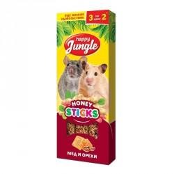 HJ Палочки для мелких грызунов мед и орехи 3 шт.