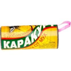 Каракурт липкая лента от мух с медом,цена за 5 шт