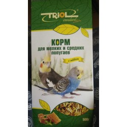 Криспи корм для попугаев мелких и средних 500г