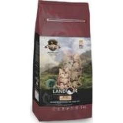 Landor полнорационный  сухой корм для котят,утка с рисом,400 гр
