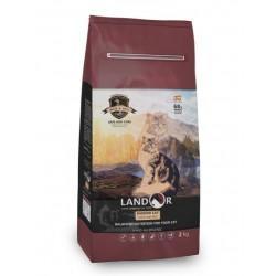 Landor сухой корм для стерилизованных кошек,утка с рисом,2кг