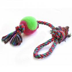 Игрушка Веревка с петлей, 2 узла и мяч
