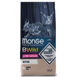 Mong Cat BWild LOW GRAIN Kitten низкозерновой корм из мяса гуся для котят 1,5 кг