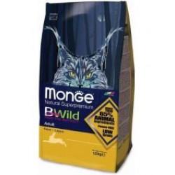 Monge Cat Bwild GRAIN FREE низкозерновой корм из мяса зайца для взрослых кошек,1,5кг