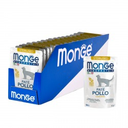 Monge Cat Monoprotein паучи для стерилизованных кошек курица,85гр
