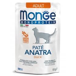 Monge Cat Monoprotein Pouch для кошек утка,85гр