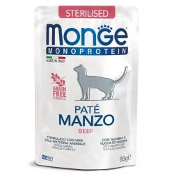 Monge Cat Monoprotein Pouch для стерилизованных кошек говядина,85гр
