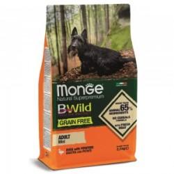 Monge Dog Bwild GRAIN FREE беззерновой корм из мяса утки с картофелем для взрослых собак мелких поро