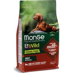 Monge Dog Bwild GRAIN FREE беззерновой корм из мяса ягненка с картофелем и горохом для взрослых соба