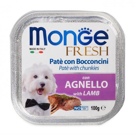 Monge Dog Fresh консервы для собак,ягненок, ,100гр