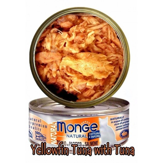 Купить Monge консервы для кошек,тихоокеанский тунец с лососем, 80гр.