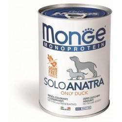 Monge консервы  для собак ,паштет из утки,400гр.Состав:100%мясо утки.