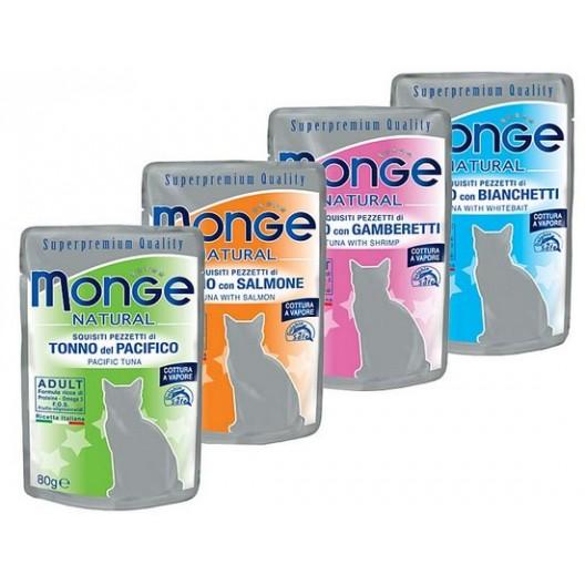 Купить Monge VetSoнабор паучи для взрослых кошек 3+1