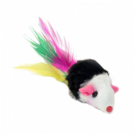 Купить игрушка для кошек Мышка с пером