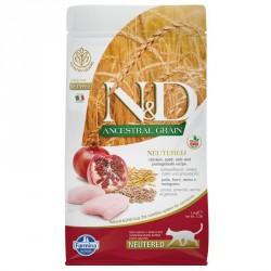N&D Cat 1,5 кг низкозерновой корм для кастрированных кошек,курица с гранатом