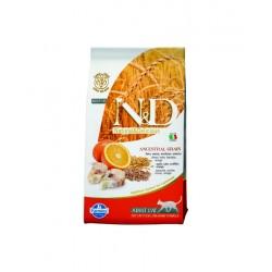 N&D Cat 1,5 кг низкозерновой корм для кошек ,треска с апельсином