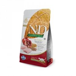 N&D Cat 300гр  низкозерновой корм для кастрированных кошек,курица с гранатом