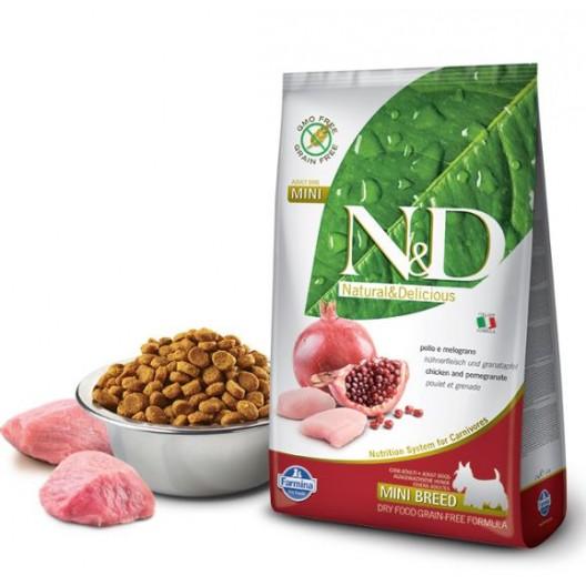 Купить N&D Dog 0,8кг беззерновой для щенков всех пород,курица/гранат