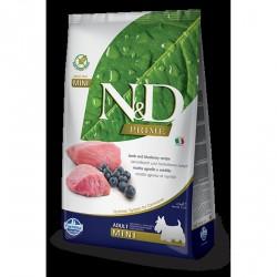 N&D Dog 0,8кг беззерновой для взрослых собак мелких  пород,ягненок/черника