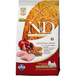 N&D Dog 0,8кг низкозерновой для щенков мелких  пород курица/гранат
