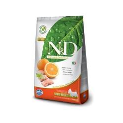 N&D Dog 800 гр беззерновой корм для взрослых собак мелких пород,рыба с апельсином