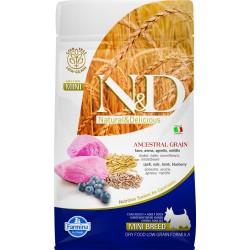N&D Dog 800 гр низкозерновой корм для взрослых собак мелких пород,ягненок с черникой
