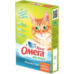 Омега NEO+лакомство д/кошек. Крепкое здоровье. таб.№90