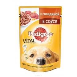 Pedigree говядина в соусе для взрослых собак всех пород